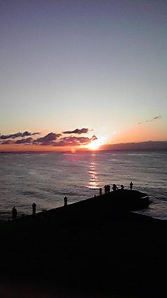 海からの初日の出